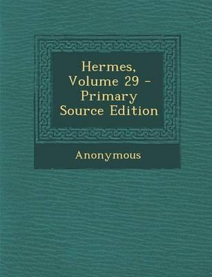 Hermes, Volume 29