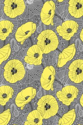 Bullet Journal Notebook Yellow Poppies On Gray