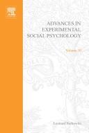 Advances in Experimental Social Psychology