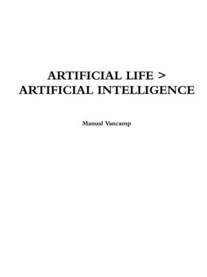 Artificial Life > Artificial Intelligence