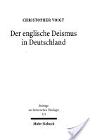Der englische Deismus in Deutschland
