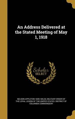 ADDRESS DELIVERED AT THE STATE