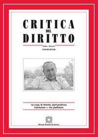 Critica del diritto. Rassegna di dottrina giurisprudenza legislazione e vita giudiziaria (2016)