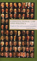 e-Study Guide for: Constitutional Law and Politics, Volume 1: Struggles for Power and Governmental Accountability by David M. OBrien, ISBN 9780393930382