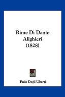 Rime Di Dante Alighi...