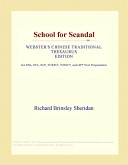 School for Scandal (Webster's Chinese Traditional Thesaurus Edition)