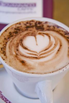 Cappuccino Coffee Heart Lined Journal