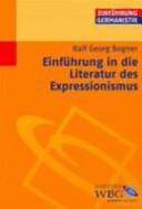 Einführung in die Literatur des Expressionismus