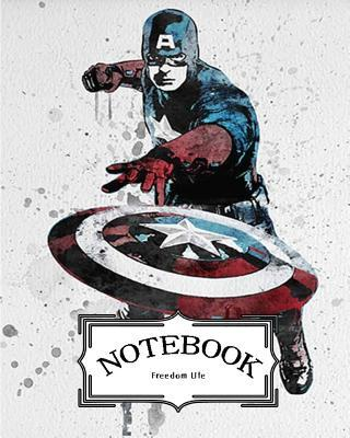Notebook Watercolor Captian America