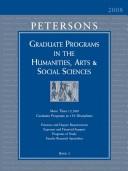 Peterson's Graduate Programs in the Humanities, Arts & Social Sciences 2008
