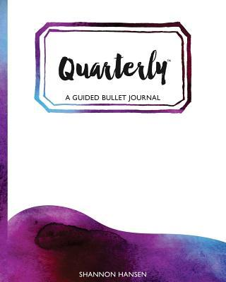 Quarterly Guided Bullet Journal Watercolor Wave Gem