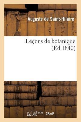 Lecons de Botanique