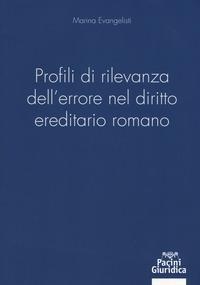 Profili di rilevanza dell'errore nel diritto ereditario romano