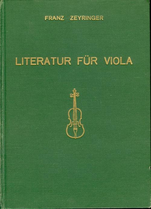 Literatur für Viola. Literature for viola, Littérature pour alto.