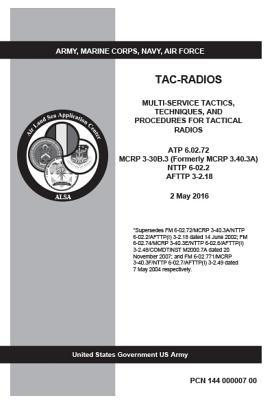 Atp 6.02.72 Mcrp 3-30b.3 Formerly Mcrp 3.40.3a Nttp 6-02.2 Afttp 3-2.18