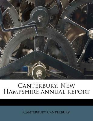 Canterbury, New Hampshire Annual Report