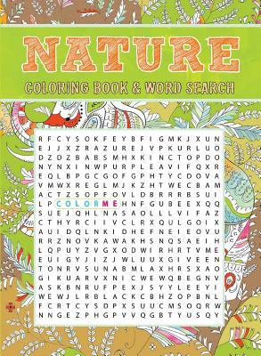 Nature Coloring Book & Word Search