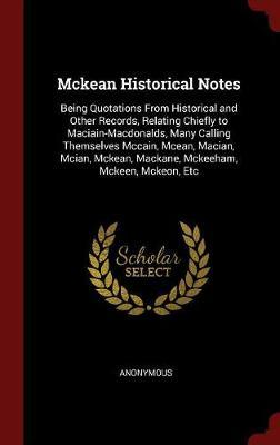 McKean Historical Notes