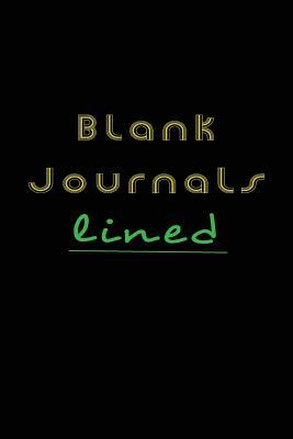 Blank Journals Lined