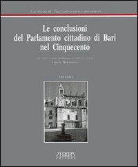 Le conclusioni del parlamento cittadino di Bari nel '500