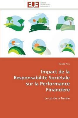 Impact de la Responsabilite Societale Sur la Performance Financiere