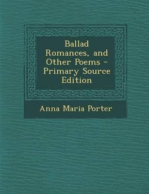Ballad Romances, and...
