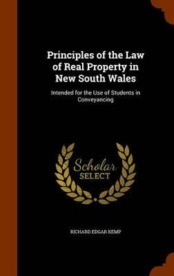 Principles of the Law of Real Property in New South Wales