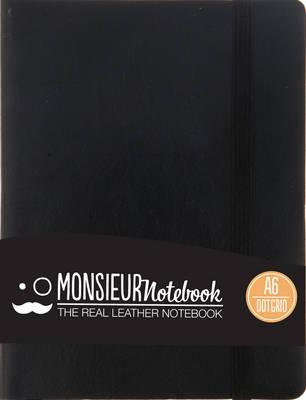 Monsieur Notebook Black Leather Dot Grid Small