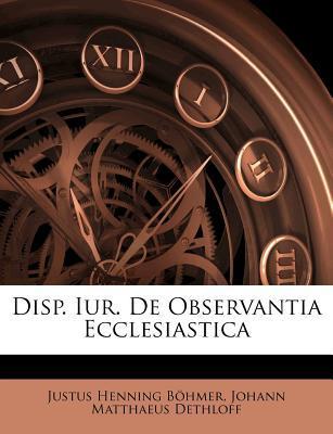 Disp. Iur. de Observ...