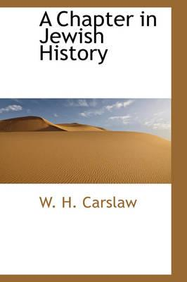 A Chapter in Jewish History