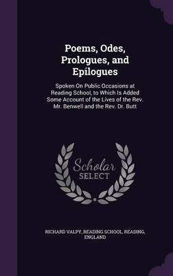 Poems, Odes, Prologu...