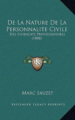 de La Nature de La Personnalite Civile