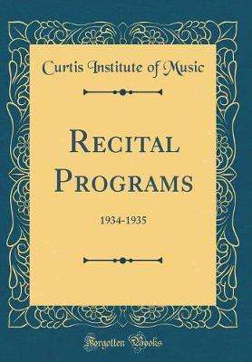 Recital Programs
