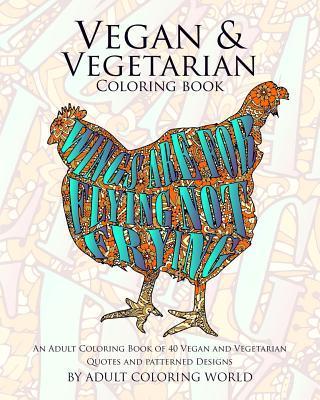 Vegan & Vegetarian Coloring Book