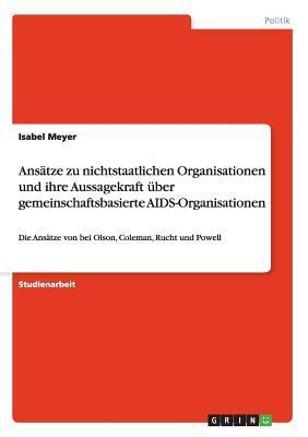 Ansätze zu nichtstaatlichen Organisationen und ihre Aussagekraft über gemeinschaftsbasierte AIDS-Organisationen