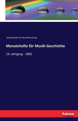 Monatshefte für Musik-Geschichte