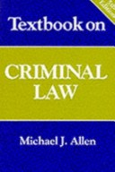 Textbook on Criminal Law