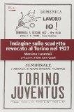 Indagine sullo scudetto revocato al Torino nel 1927