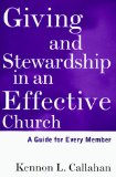 Giving and Stewardship in an Effective Church