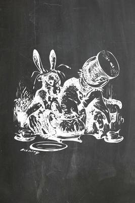 Alice in Wonderland Chalkboard Journal Mad Hatter's Tea Party