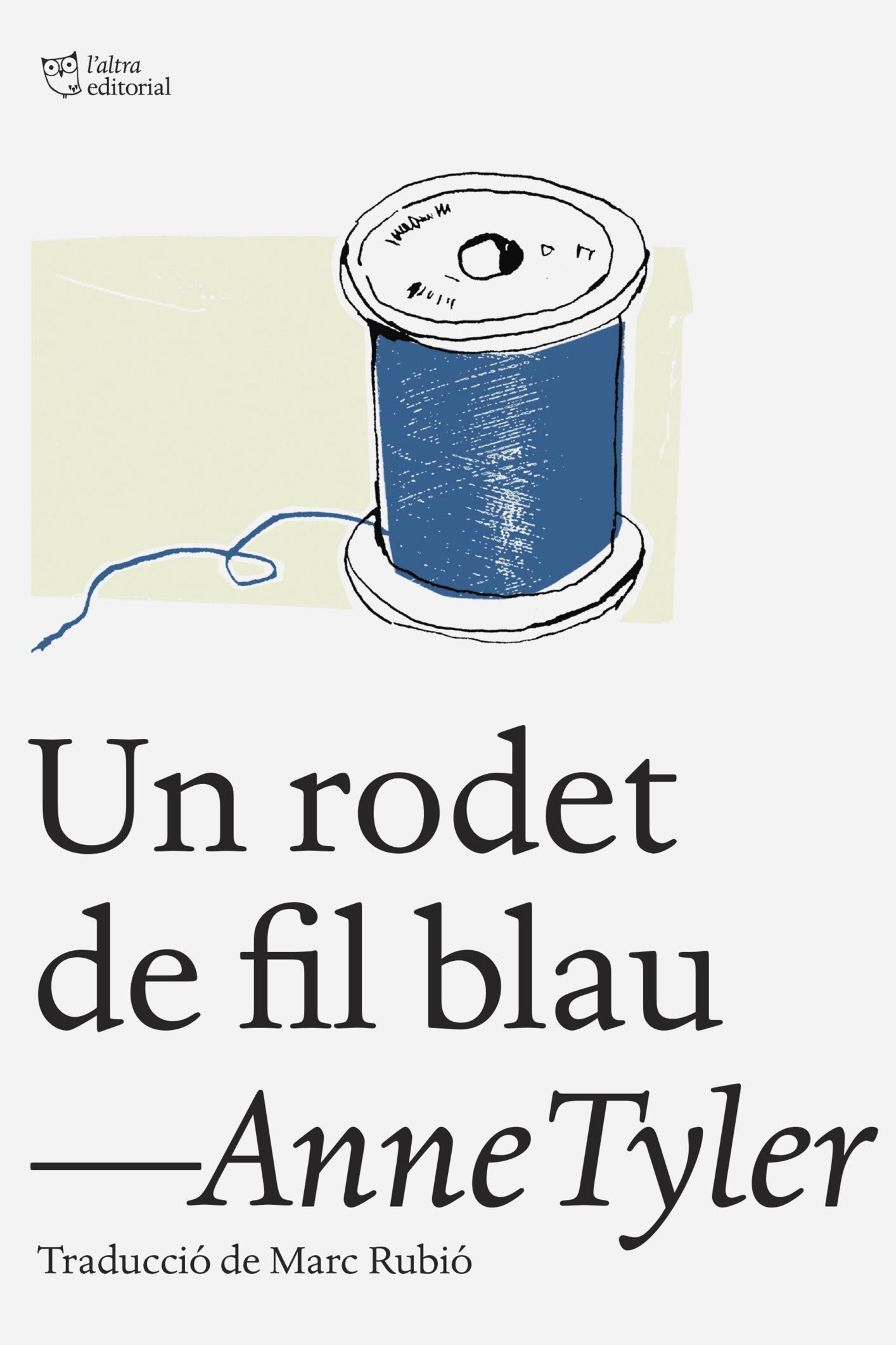 Un rodet de fil blau