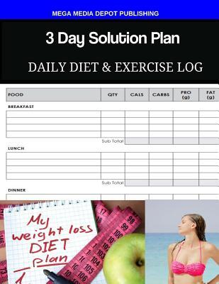 3 Day Solution Plan Daily Diet & Exercise Log