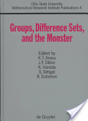 Groups, Difference Sets, and the Monster