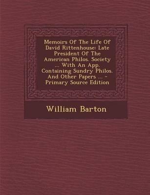 Memoirs of the Life of David Rittenhouse