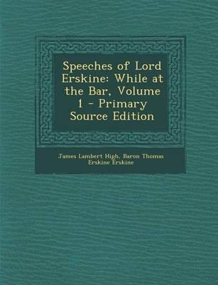 Speeches of Lord Erskine
