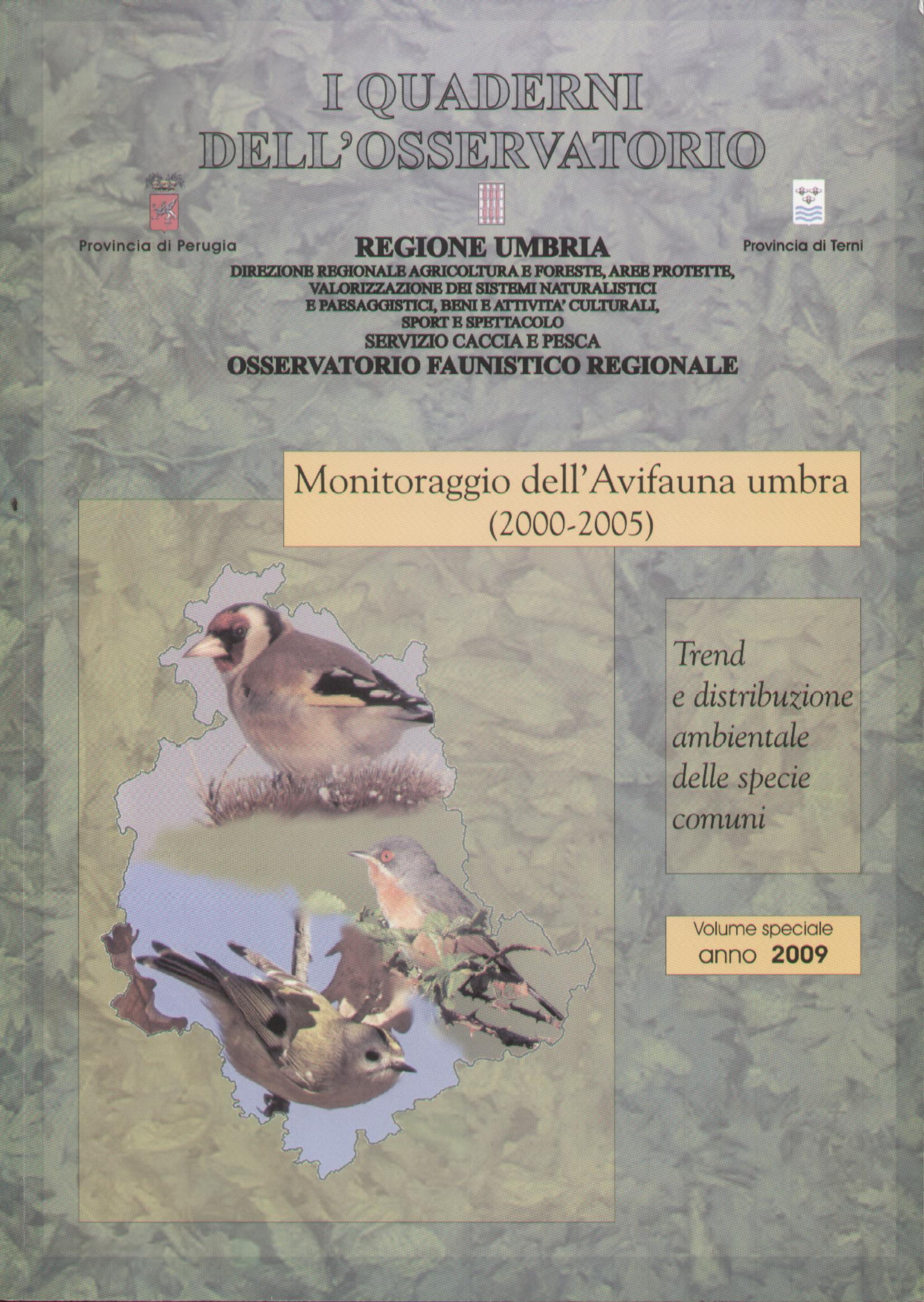 Monitoraggio dell'avifauna umbra (2000-2005)