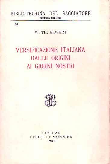 Versificazione italiana dalle origini ai giorni nostri
