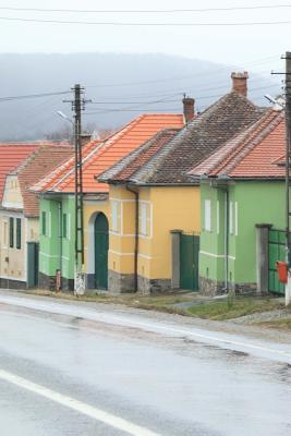 Colorful Houses on a Rainy Day Romania Journal