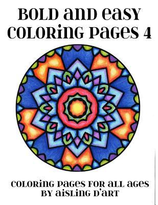Bold and Easy Adult Coloring Book