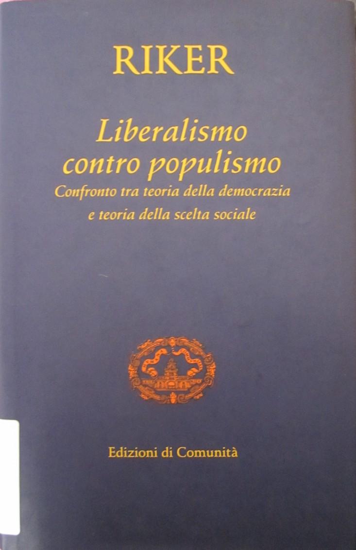 Liberalismo contro populismo